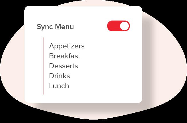 Sync Your Menu