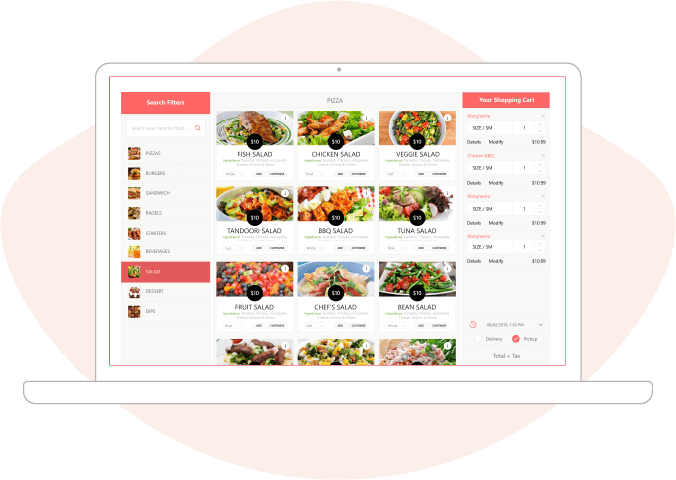 Website Ordering Software